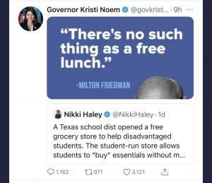Gov Noem:  Feeding Hungry Children is Evil