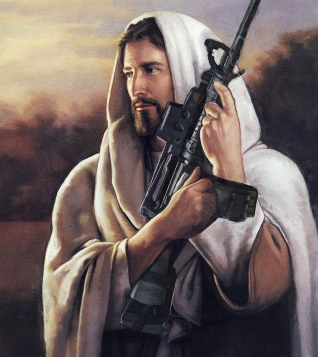 Governor Noem Announces Discovery of Lost Scripture In Which Jesus Uses Guns to Stop Illegal Immigration to US